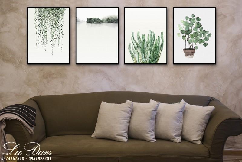 Xu hướng tranh trang trí treo tường phòng khách đẹp giá rẻ 2019