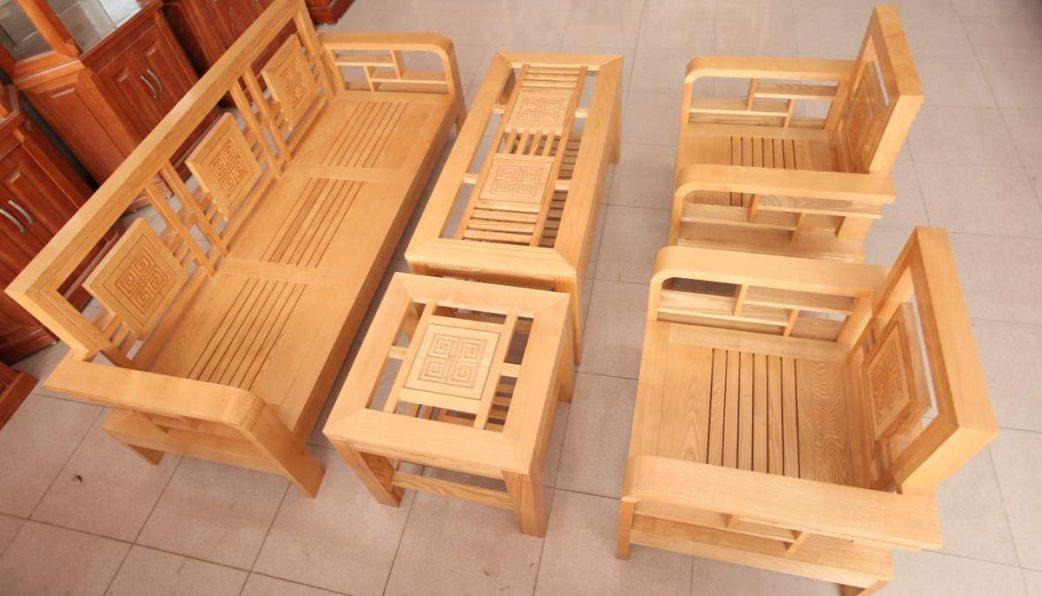 bàn ghế gỗ phòng khách giá rẻ P7