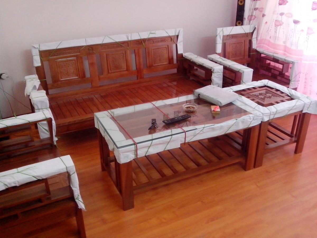 bàn ghế gỗ phòng khách giá rẻ P6