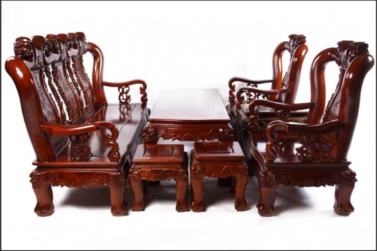 bàn ghế gỗ phòng khách giá rẻ P4