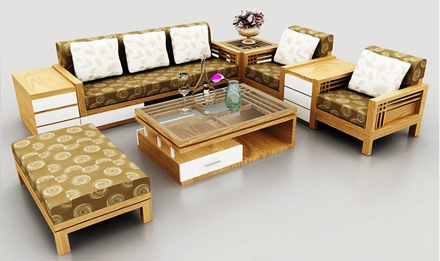 bàn ghế gỗ phòng khách giá rẻ P9